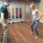 Pro Runner Stephanie Howe Violett works with Peter Schrey, PT