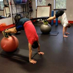 Ball Pikeups strengthen the Anterior Oblique Sling and Inner Core Unit
