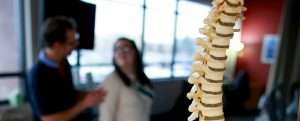 spine physical therapy patient
