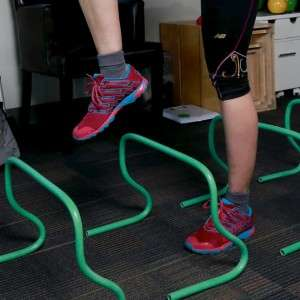 Stepping over hurdles for balance training