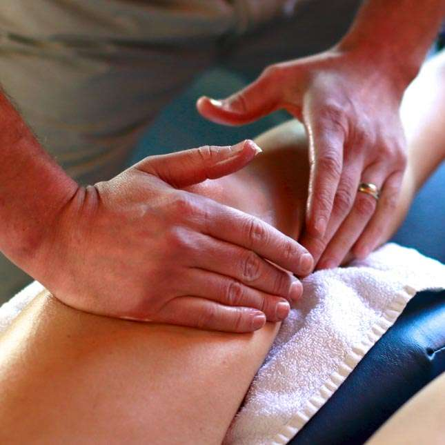 Hands on knee massage