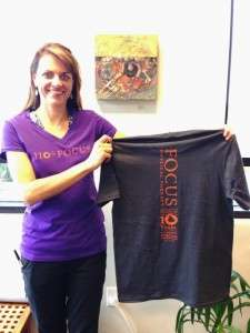 Carlee models our Focus Tshirts-Get yours!