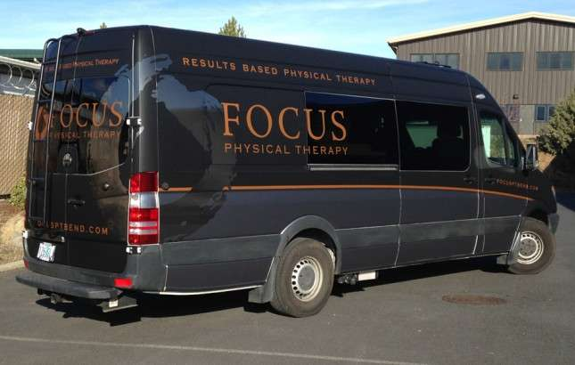 Focus Van is newly wrapped with the Focus Physical Therapy Logo, ready to roll to an event near you!